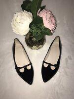 Impeccable Condition COLE HAAN Gorgeous Black Patent Leather Flats Size 6.5B