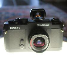 Voigtlander Bessa L with 15mm f/4.5 Super Wide Heliar Lens+Finder - Super Clean