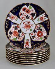 "Antique Royal Crown Derby Imari 6958 Dessert Pie Plate 7"" c.1902 - MINT"
