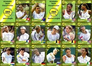 Wimbledon 2003 Tennis Trading Cards Federer Philippoussis Serena Venus Williams