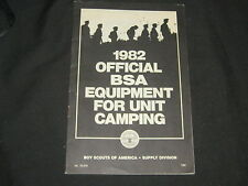 Official BSA Equipment for Unit Camping Catalog 1982     eb13