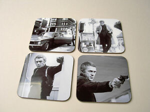 Bullitt Steve McQueen Great Drinks Coaster Set