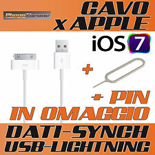 CAVO DATI USB per IPHONE 4 4S 3GS 4G 3G SYNC CARICA DOCK per IPAD per IPOD