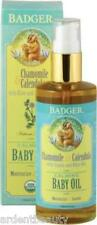 Badger Certified Organic Natural Calming Baby Oil 4 oz Glass Pump