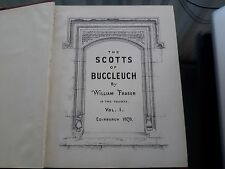 The Scotts of Buccleuch William Fraser ORIGINAL édition 1878 vol 1 et 2