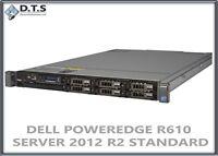 DELL POWEREDGE R610 SERVER  2.93GHZ 48GB WINDOWS SERVER 2012 R2