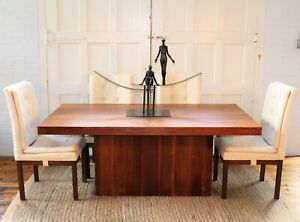 Milo Baughman for Dillingham Walnut Mid Century Modern Dining Table