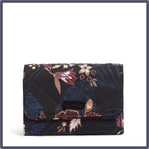 NWT Vera Bradley RFID Riley Compact Wallet Trifold Purse in Garden Dream
