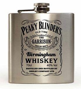 Garrison Birmingham Whisky Peaky Blinders Inspired 6oz Hip Flask