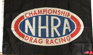 NHRA Drag Racing Flag Hot Rod Racing 3x5 Man Cave Banner National Association
