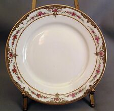 Theodore Haviland Bread & Butter Plate(s) - Pink Rose/Scroll Border S618