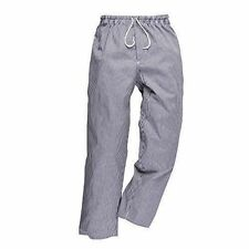 Portwest C079CHTM Bromley Chef Trousers-blue/white Medium