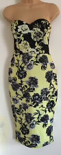 BNWOT Ladies Sweetheart Strapless  Dress In Lime Green & Black By ASOS Size 10