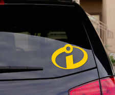 The Incredibles Logo -  Vinyl Car Laptop Decal Sticker - Disney Superhero Kids