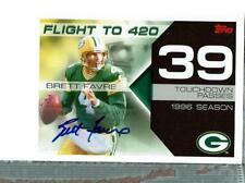 Brett Favre Auto 14/39 2007 Topps Flight To 420 , Packers