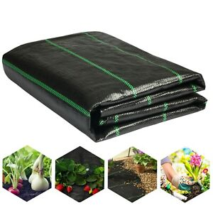 Heavy Duty Weed Control Fabric Membrane Garden Ground Cover Mat Landscape 2Mx5M