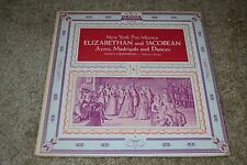 New York Pro Musica~Elizabethan and Jacobean Ayres, Madrigals, and Dances~Decca