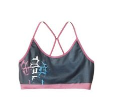Sports Bra Black Pink Strappy Girl L 10 12 Nickelodeon TMNT Teenage Mutant Ninja
