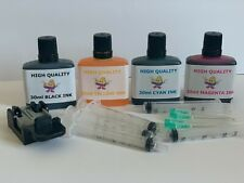 ++ Ink Cartridge Refill Kit HP 302XL 302 Black & Colour Includes Primer Tool ++