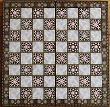 "Mother of Pearl Pattern 17""x17"" Compress Wood Folding Chess Checkers Board"