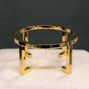 Specimen display Gold Plated Brass Sphere Egg Stand №216