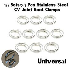 20PCS Universal Auto Stainless Steel Clamps Set For DriveShaft CV Joint Boot Kit