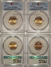 2009 P /& D Lincoln Professional 1c Cent 2 Coin Set PCGS SP68RD Satin Finish