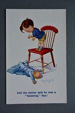 R&L Postcard: Inter Art 2023 Donald McGill Bouncing Baby Boy