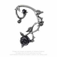 ALCHEMY ENGLAND Gothic Steampunk Pewter Left Earring EAR-WRAP Wild Black Rose