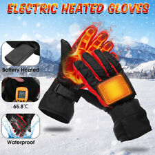 Motorcycle Electric Heated Gloves Winter Warm Thermal Ski Snowboarding Gloves US