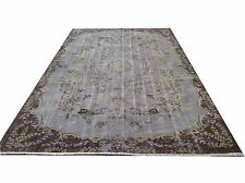 "9' 2""x5'9"" Vintage destressed light gray yellow color reform Overdyed rug carpet"
