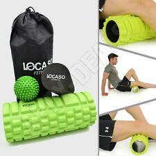 2 in 1 Foam Roller Deep Tissue Exercise Point Trigger Grid Massage Ball Physio