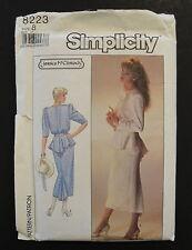 Simplicity 8223 Jessica McClintock 2 pc Designer Dress MOB Cocktail Party Size 8
