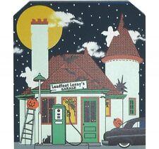 Cat's Meow Village Leadfoot Lenny's Auto Garage Halloween Glows #15-632 NEW
