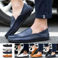 Hombre'S Informal Cómodo Cuero Suave Suela Mocasines Zapatos sin Cordones