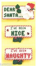 *Dear Santa- Naughty Or Nice Magnet To Stitch*Plastic Canvas Pattern*