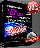 BITDEFENDER TOTAL SECURITY 2018 3 YEARS 1 DEVICE PRE ACTIVATED I NO KEY I NO CD