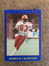 signed in person  DERRICK CAWFORD   CFL  CALGARY STAMPEDERS  JOGO # 168    1990