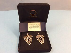 Ola Gorie Sterling Silver Coppergate Zoomorphic  Earrings in Presentation Box