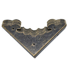 12xAntique Brass Jewelry Chest Wine Case Wooden Box Feet Leg Corner ProtectoNwus