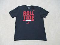 Nike Alabama Crimson Tide Shirt Adult Extra Large Black Red Football Mens A34