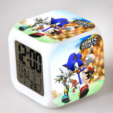 Fun Sonic the Hedgehog Game Color Changing Night Light Alarm Clock Kids Toy Gift