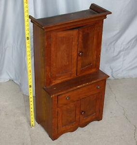 Antique Children's Furniture Oak Kitchen Cabinet – 29 inches height