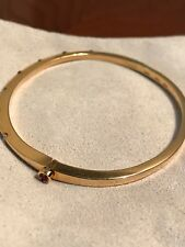 Roberto Coin Diamond 18K Yellow Gold Parisienne Ruby Signature Bracelet