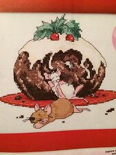 Cheeky Chistmas Pudding  Picture  Cross Stitch Chart