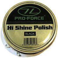 FORCES ARMY BOOT POLISH SAS Black 50ml Military tin soldier shoe shine kit gloss