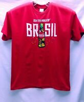 Men's World Cup T-Shirt Size XL Red 2014 Brasil Brazil FIFA World Cup Coca Cola