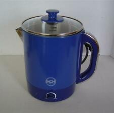 QVC/MCM Electric Multi-Pot~2L With Steamer Basket & Basket Tray~Blue~1500 W