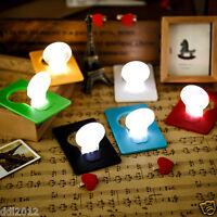 5X Portable Wallet Credit Card Pocket Purse Size LED Mini Night Light Bulb Lamp