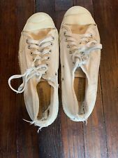 Vintage CONVERSE JACK PURCELL Canvas Sneakers White, Made in USA Sz 6 Mens
